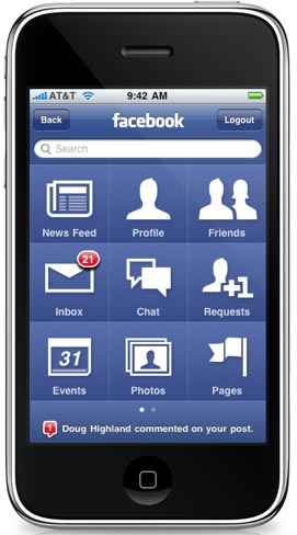 Facebook 3.0 para iPhone