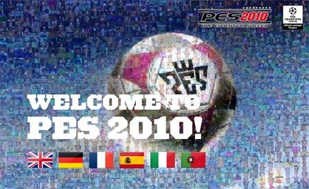 Pagina de inicio del sitio PES 2010