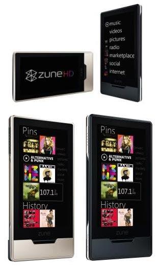 Nuevas imagenes del Zune HD