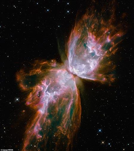Nebula en forma de mariposa capturada por el telescopio Hubble