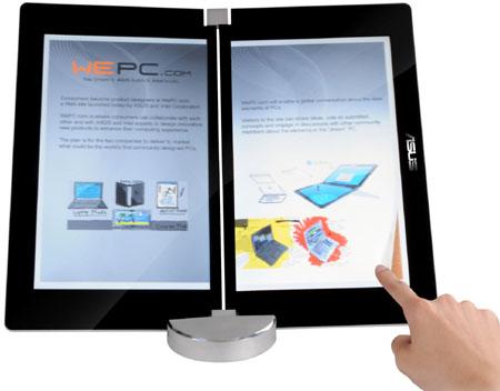 Lector de libros electronicos ASUS Eee de doble pantalla
