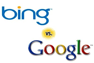 pelea entre los buscadores Bing y Google