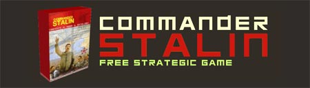 Logo del video juego commander stalin