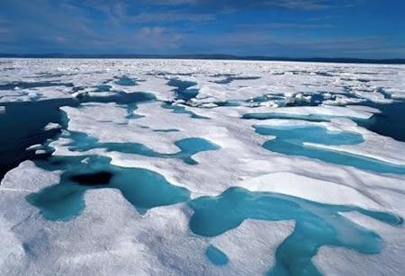 imagen de deshielos en el mar Ártico