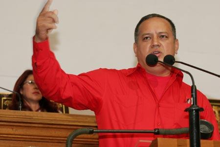 ministro de Obras Públicas y Vivienda Diosdado Cabello