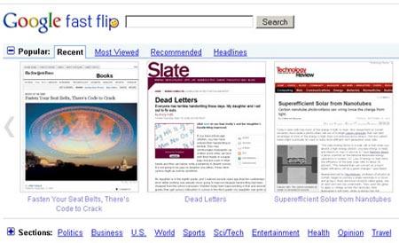 Fast Flip, nueva herramienta de Google,