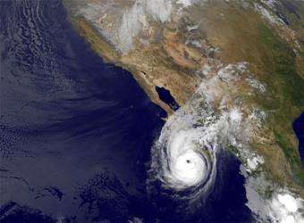 imagen del huracan jimena desde satelite