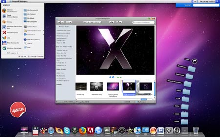 "tema para Windows XP ""Leopard-X"""