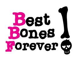 logo de campaña Best Bones Forever! en contra de la osteoporosis
