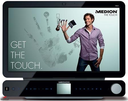 modelo Medion Touch X9613, de la serie todo en uno