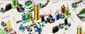 Monopoly City Streets, usa plataformas de Googlemaps