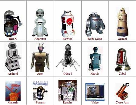 sitio Web dedicado a robots antiguos