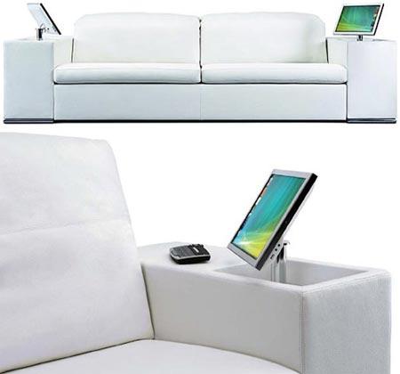 Fotografía del lujoso sofá tecnológico de artanova