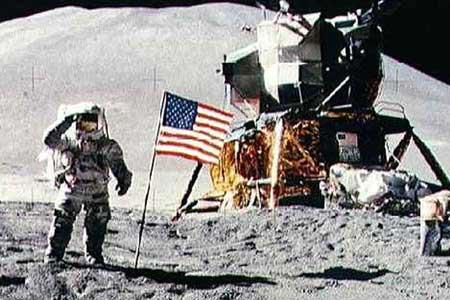 imagen del primer viaje a la luna