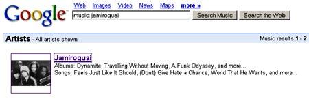 Servicio de busqueda de musica en Google