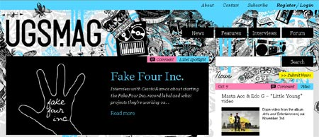 diseño de revista online para sitios web