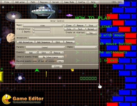 Game Editor para crear juegos 2D