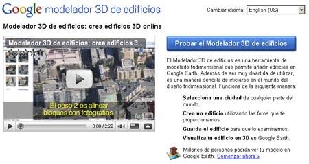 Modelador 3D de edificios por Google