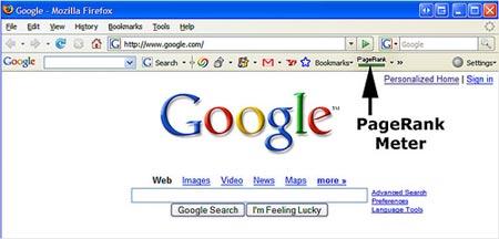 Google PageRank eliminado