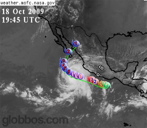 huracan rick, categoría 5, entrando a mexico
