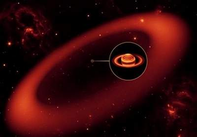 nuevo anillo gigante alrededor del planeta Saturno