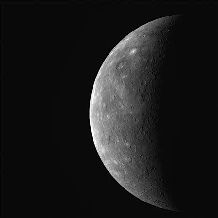 Planeta Mercurio, mision espacial de la sonda MESSENGER