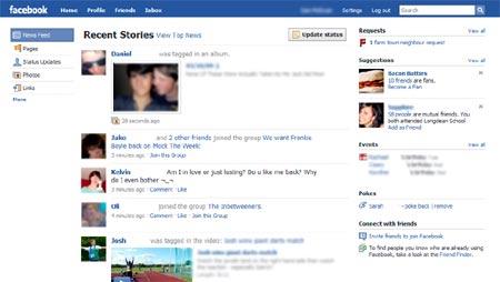 rediseno de facebook, de nuevo