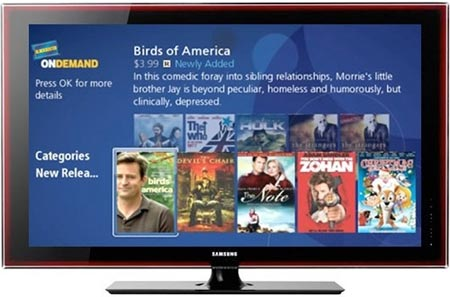 Blockbuster on-demand en televisores Samsung
