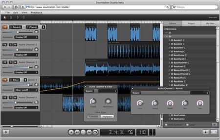 Soundation Studio aplicacione online
