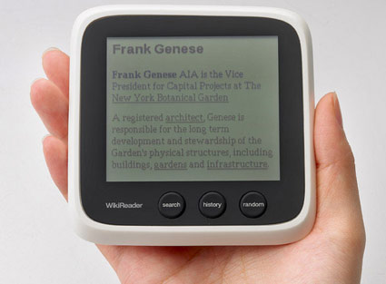 dispositivo portable WikiReader