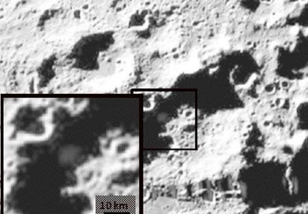Se encuentran grandes cantidades de agua en la Luna