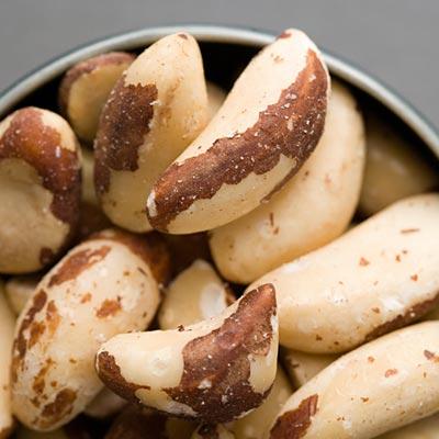 Las nueces de Brasil contienen altos niveles de selenio