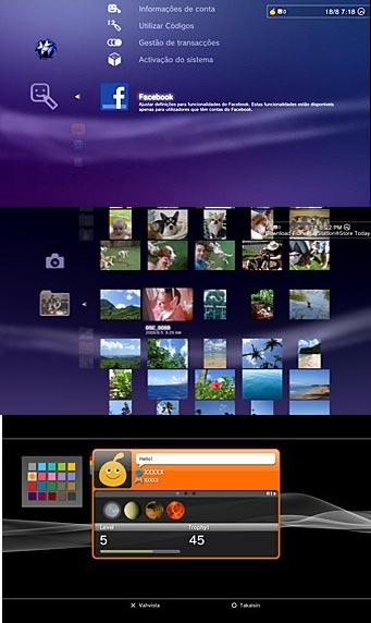 Facebook dentro de la consola PS3