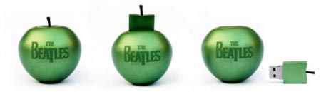 Manzanas USB con los exitos de The Beatles