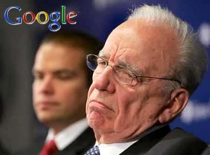 Rupert Murdoch en desacuerdo con Google