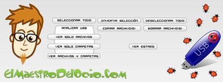 AntiBug USB Master, programa para ver archivos ocultos en memorias USB
