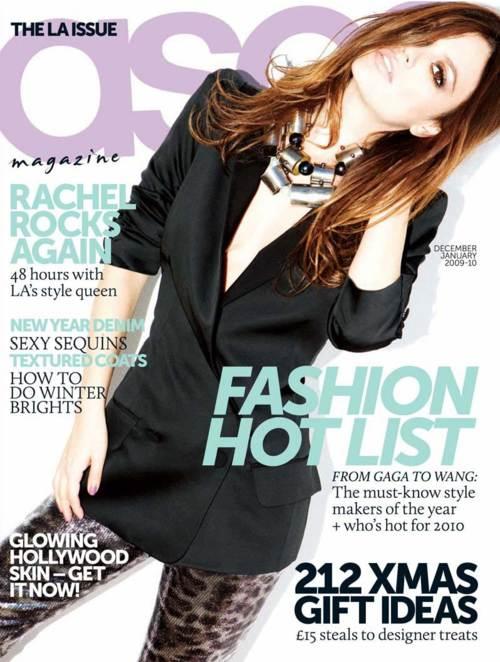 Rachel Bilson en portada de la revista ASOS de diciembre 2009