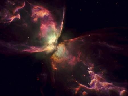 estrella mas caliente de la galaxia en la nebulosa bug