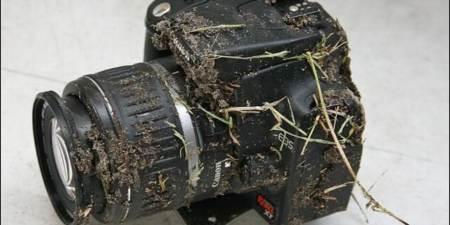 camara canon despues de caida