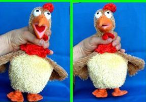 Juguete para asfixiar al pollo, pero que baila cuando es sacudido