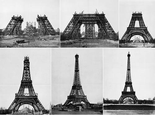 construccion por partes de la Torre Eiffel