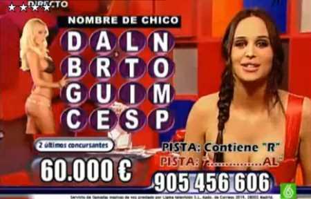 Marisa Gomez conduciendo el programa de telellamadas