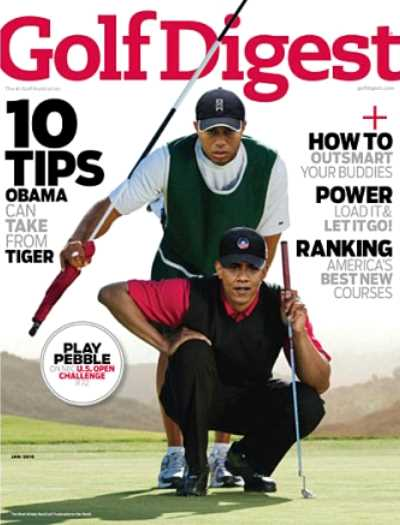 "Obama y Tiger Woods en la portada de ""Golf Digest"""
