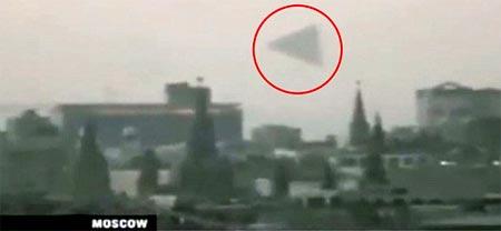 OVNI volando sobre el Kremlin en Moscu