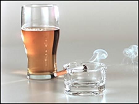 cerveza y tabaco