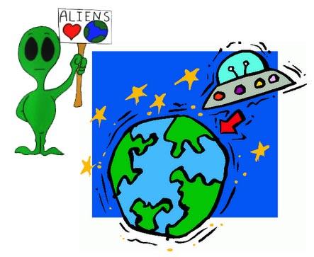 Los aliens quieres venir a la tierra