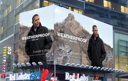 Imagen de Barack Obama en un anuncio Fashion