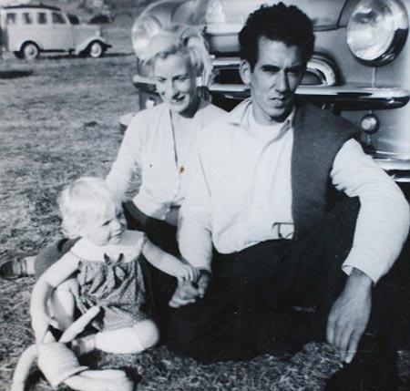 Foto del padre y la hija antes de separarse