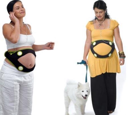 Sistema mp3 para el vientre de las embarazadas