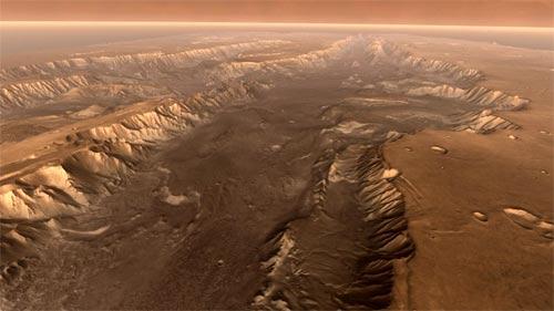 Valle Marineris, un extenso valle de arena